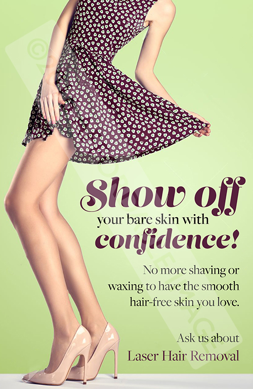 Laser Hair Confidence Sm Wall Art Cosmetic Marketing